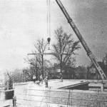 Bau der Turnhalle 1985