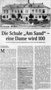 Sächsische Zeitung zur Festwoche Herbst 2000